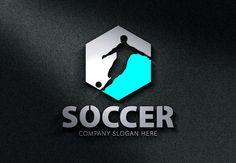 Soccer Logo by Creative Dezing on @creativemarket