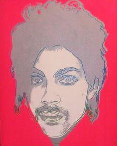"Andy Warhol ""Prince""  acrylique sur toile, 52 x 42 cm, 1976"