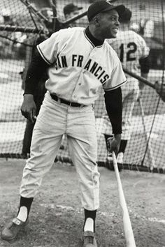 WILLIE MAYS BASEBALL GREAT vintage sports poster SAN FRAN GIANTS 24X36 1960s