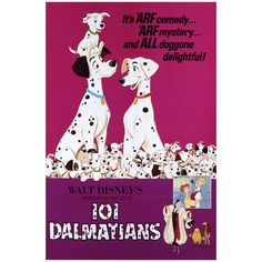 101 Dalmatians: Movie Poster Mural - Officially Licensed Disney Removable Wall Adhesive Decal XL by Fathead | Vinyl