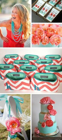 Charming Coral And Teal May Not Sound Like A Color Combination Match Made In Heaven,  But Good Ideas