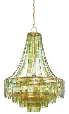 Currey and Company Vintner Chandelier Dark Gold Leaf Green Wrought Iron Recycled Bottle Glass Wine Glass Chandelier, Green Chandeliers, Chandelier Lighting Fixtures, Round Chandelier, Empire Chandelier, Beaded Chandelier, Light Fixtures, White Chandelier, Ceiling Fixtures