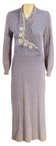 """Edna May Oliver """"Augusta Pritchard"""" knit dress designed by Gwen Wakeling from The Last Gentleman. (20th Century, 1934)"""