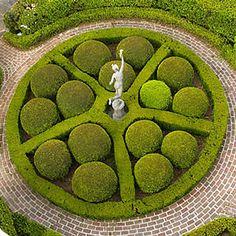 Bun Topiary Garden, Calhoun Mansion and Garden, in Downtown Charleston South Carolina.