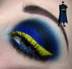 Classic Batman make up. That's amaaaaazing! << Now I just need the colors and I have my eye makeup for halloween