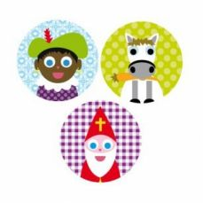 Buttons of Jojojanneke - Sinterklaas - available at www.simplydutch.com