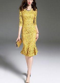 Simple Dresses, Cute Dresses, Girls Dresses, Summer Dresses, Batik Dress, Lace Dress, Classy Outfits, Beautiful Outfits, Linen Dresses
