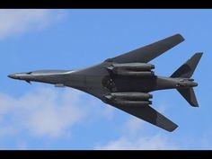 Rockwell B-1 Lancer flyby - YouTube