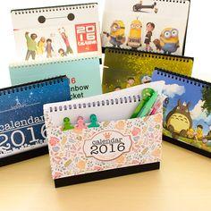 Criativo-calendário-2016-calendário-de-mesa-bobina-coréia-horário-bonito-dos-desenhos-animados-produtos-de-papelaria.jpg (750×750)