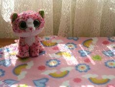 Pink Rainbow Fluff 18x18 Crochet Edge Fleece Baby Doll Blanket, #18-35 by MonaSewingTreasures on Etsy