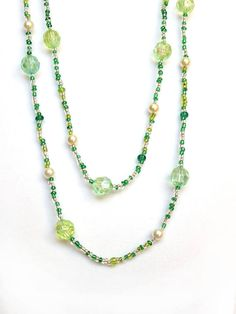 This beaded double wrap necklace is the perfect Christmas accessory! It can be worn long or layered, with an everyday outfit or dressed up for an evening out! It makes a great gift for anyone who loves to wear festive accessories over the holidays!