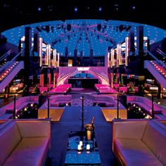 For the theatrical package, designed by SJ Lighting, Elation Design Spot 575s are the main moving lights overlooking the dance floor, with Design Spot 300s on the mezzanine level.