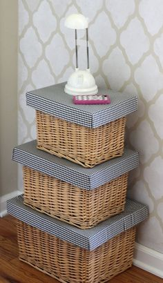 Storage and organizing ideas How to Make a Lid for a basket