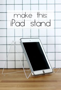 Make your own modern style iPad stand in minutes with this easy tutorial. A fun gift idea for all the techies in your life!