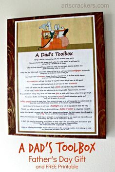 A Dads Toolbox Fathers Day Gift and Printable. Click the picture to view the tutorial.