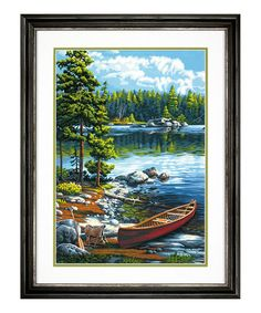 This Canoe By The Lake Paint by Numbers Set is perfect! #zulilyfinds