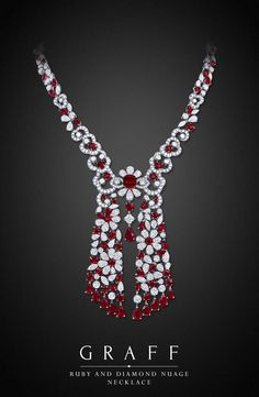 Ruby and Diamond Necklace by Graff  Diamonds- 59.43cts, Rubies- 54.10cts | You can see the Rest of the Outfit and my Remarks on this board.  -  Gabrielle