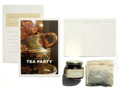 Jam and Tea Party Invitation // by Alison Iven