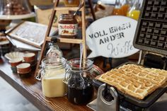 Warm waffles for breakfast at Lindner Hotel & Residence Main Plaza. Frankfurt am Main.