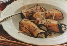 Grilled Eggplant and Goat Cheese Spirals