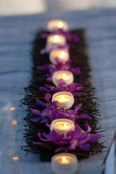 flowera and candles centerpiece ideas