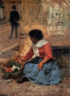 "whatshangingonthewall: "" The Fruit Vendor Pio Joris c. 1893 """