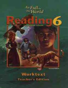 Bob Jones Reading 6, As Full as the World Worktext Teacher's Edition Answer Key 2nd edition Retail Price: $25.50 Our Price: $19.13