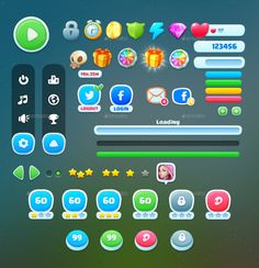 Buy Games UI by on GraphicRiver. A complete set of graphical user interface (GUI) to build video games Suitable for casual, all-ages, kids, or girl. Web And App Design, Design Websites, Ui Ux Design, Interface Design, Game Design, Game Interface, Design Logo, Android Ui, Design Android