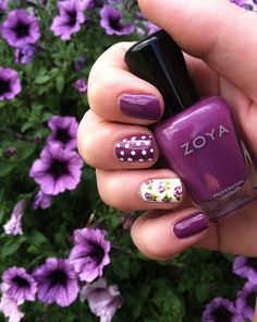 A Floral How-To By Zoya Nail Polish - Zoya Nail Polish, Zoya Nail Care Treatments and Zoya Hot Lips Lip Gloss