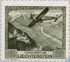 Stamps - Liechtenstein - Aircraft over Liechtenstein