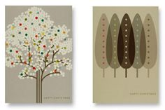 Christmas cards by Orla Kiely for the Tate Gallery
