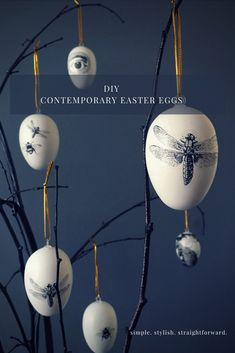 These budget-friendly handmade black and white contemporary Easter eggs are stylish and simple and provide a modern alternative to everyday Easter decorations. eggs black and white DIY Contemporary Easter Eggs Easter Tree, Easter Eggs, Diy Osterschmuck, Diy Easter Decorations, Egg Decorating, Stylish, Simple, Witch, Easter Crafts