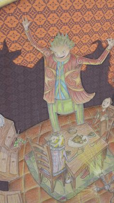Ilusionista - Ilustração para efeitos de portefólio.
