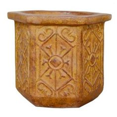 Ravenna Pottery, 19 in. Hexagon Clay Rimini Planter, RRC-100A at The Home Depot