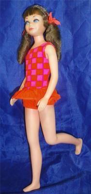 Vintage 1969 Barbie Java Brown Sausage Curl TNT Skipper Doll 1105 w Swimsuit | eBay