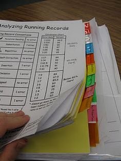 running record & guided reading organization...so helpful/useful!!