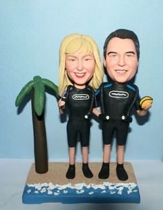 Beach Scuba wedding cake toppers