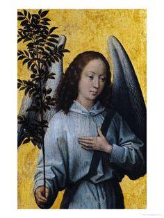 Angel Holding an Olive Branch reproduction procédé giclée par Hans Memling sur AllPosters.fr