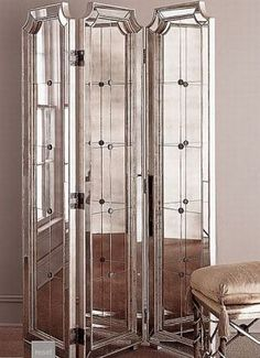 Get some old Hollywood glamour in your home - three-panel-floor-mirror.jpg