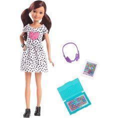 Barbie Team Stacie Friend of Stacie Doll Gaming Playset with Accessories, # Barbie Kids, Barbie Doll Set, Barbie Dream, Barbie Barbie, Barbie Playsets, Chelsea Doll, Barbie Fashionista Dolls, Diy Barbie Clothes, Barbie Sisters