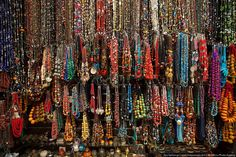 Necklaces galore at a Turkish bazaar