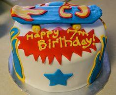 JessiCakes: Rockin' Skateboard Cake Skateboard Cake, Happy Birthday, Birthday Cake, Party, Desserts, Cakes, Food, Happy Brithday, Tailgate Desserts