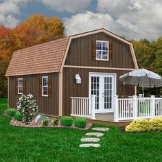 Shop Best Barns Richmond Without Floor Gambrel Engineered Wood Storage Shed (Common: 16-ft x 32-ft; Interior Dimensions: 15.42-ft x 31.42-ft) at Lowes.com