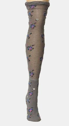 Steel Gray Botanic OvertheKnee Socks Grey Fashion, Autumn Fashion, Lots Of Socks, Out Of The Closet, Gray Matters, Classy And Fabulous, Heartbeat, Clothing Ideas, Hosiery