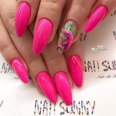 nail art could be a technique for decorating nails that makes 3 dimensional styles. this could embrace adding gems or little charms to the nails, or victimization acrylics created in. Pink Nail Art, 3d Nail Art, Pastel Nails, Gel Nails, Acrylic Nails, Nail Polish, Cute Nails, Pretty Nails, Vacation Nails