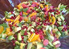 Fit Food by Jess - Citrus, Pomegranate And Avocado Salad