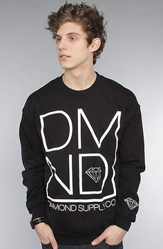 $60 @DiamondSupplyC0 The DMND Crewneck Sweatshirt in Black by Diamond Supply Co. at karmaloop.com -- Use repcode SMARTCANUCKS for a 20% discount at the checkout!