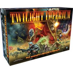 For two decades, Twilight Imperium has thrilled gamers with its grand storytelling and tactical strategy. Now players can explore the next step in the Twilight Imperium Legacy with Twilight Imperium Fourth Edition, an epic game of galactic conquest for three to six players.  Each player takes command of one ...