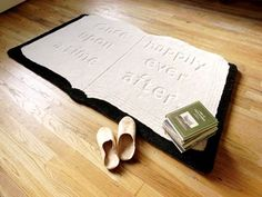 Gift ideas for bookworms: Create a comfy spot to cuddle up with a book with this storybook rug.