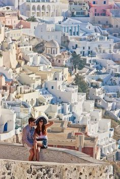 """See 4645 photos and 233 tips from 23632 visitors to Σαντορίνη (Santorini). """"The blue domed churches are santorini's most characteristic. Places Around The World, Oh The Places You'll Go, Places To Travel, Places To Visit, Vacation Destinations, Dream Vacations, Vacation Spots, Couples Vacation, Vacation Club"""